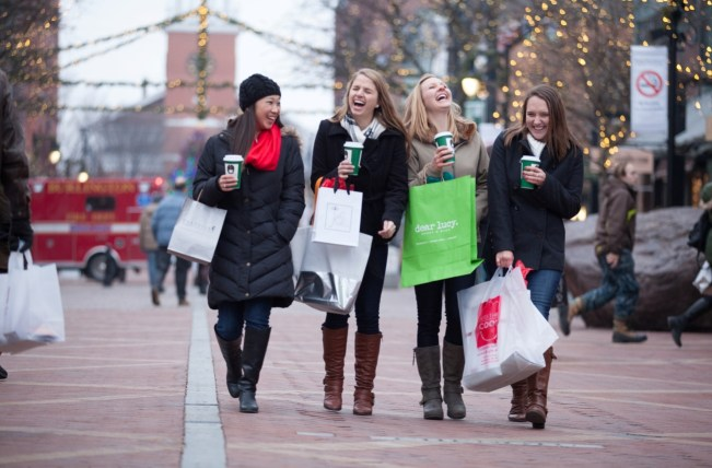 Image of women walking on Church Street Marketplace