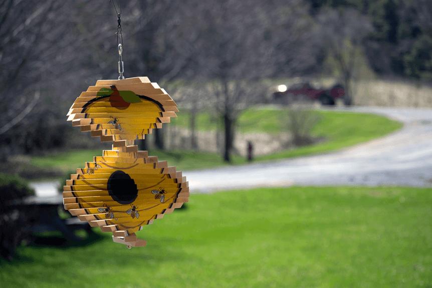 Wooden wind spinner at Maple Landmark Woodcraft