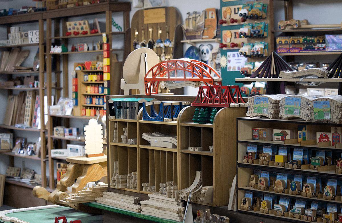 Image of shop showroom at Maple Landmark Woodcraft
