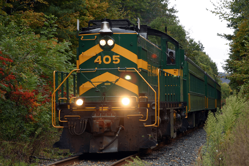 Image of locomotive #405 of the Green Mountain Railroad
