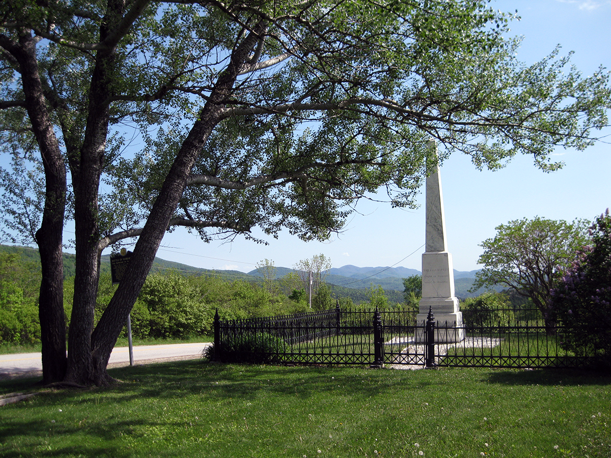 Image of the Hubbardton Battle Monument, a Vermont State Historic Site