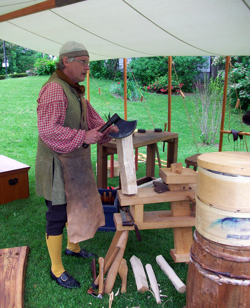 Image of a reenactor at the Old Constitution House in Windsor, a Vermont State Historic Site