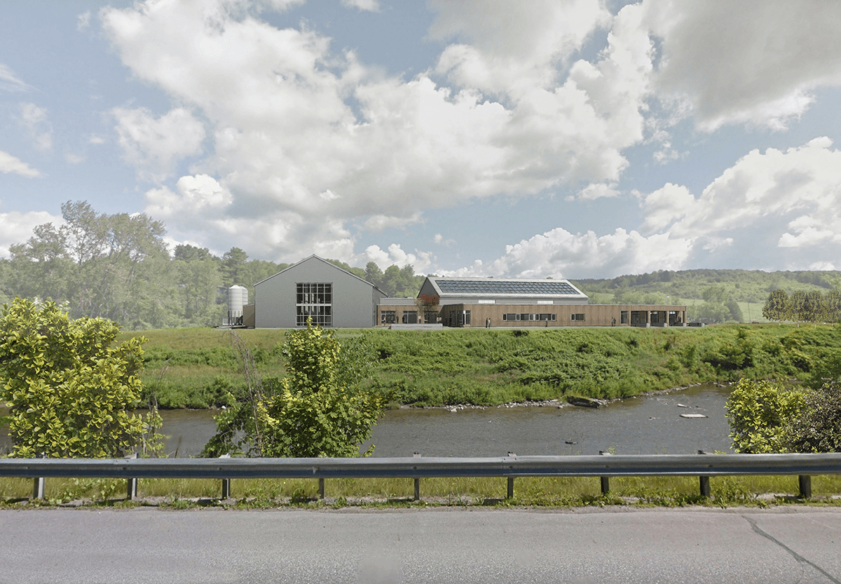 Another rendering of the distillery for Barr Hill Gin in Montpelier, Vermont