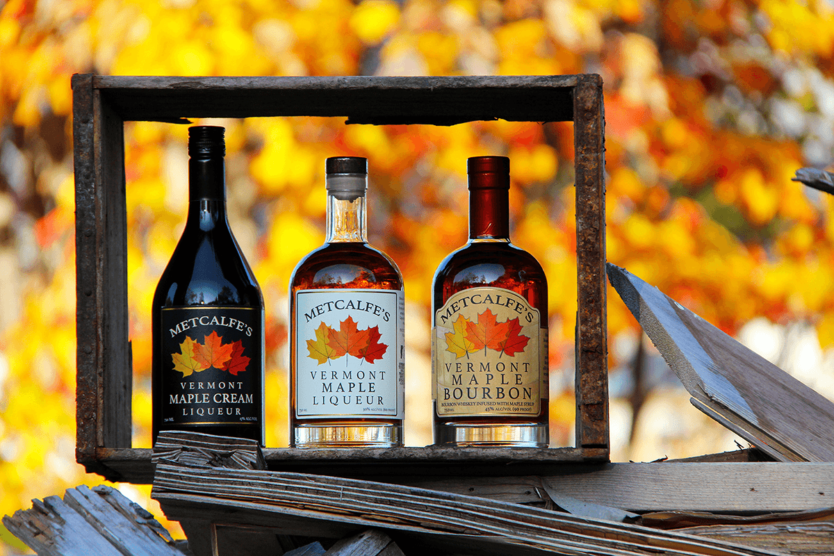 Image of maple flavored spirits distilled by Vermont Distillers