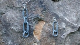 """Refreshed configuration with 8mm link, 3/8"""" chain link and 3/8"""" ring and link on left bolt."""