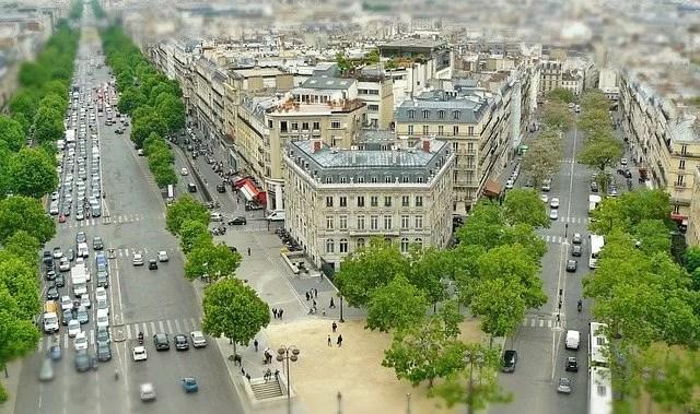 paris city view tilt shift 2082326