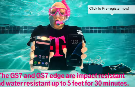 Samsung Galaxy S7 underwater video