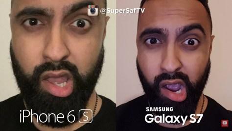 Galaxy S7 vs iPhone 6s - Selfie low light