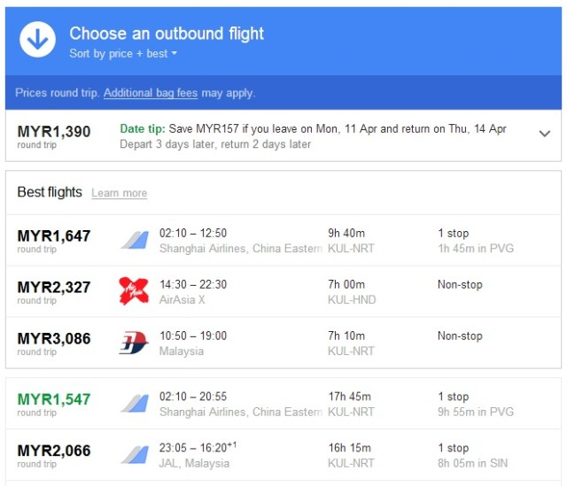 Google Flights 3
