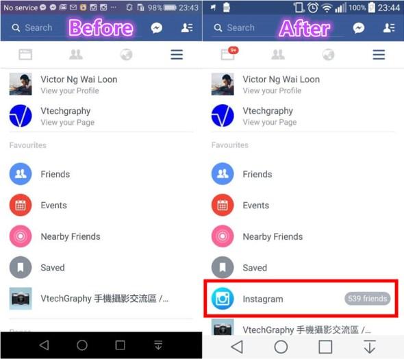 Facebook integrated Instagram