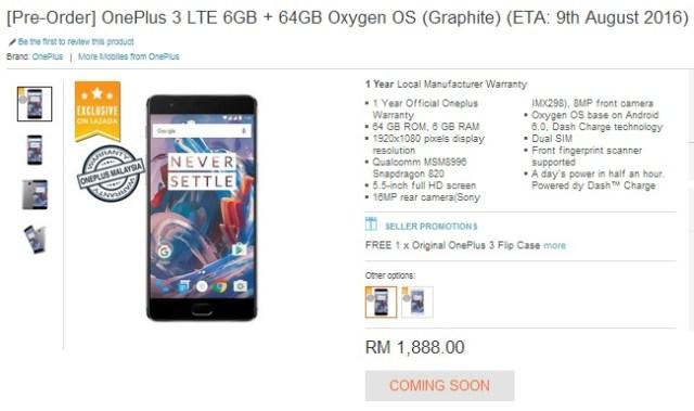 OnePlus 3 Malaysia