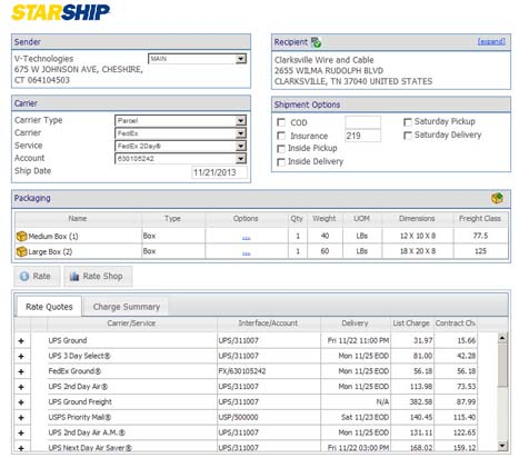 StarShip Shipping Software  Historical Releases