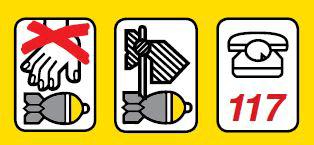 Symbolbild Blindgänger nie berühren - markieren - melden