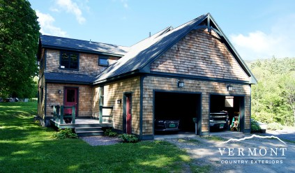 This cedar shingled home in Waitsfield, VT was washed with eco-friendly power washing techniques