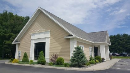 Pressure wash of a bank in Morrisville, VT using eco-friendly techniques