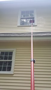 Home window gets spot free cleaning from Vermont Home Wash in Burlington, VT