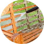 Dirty outdoor furniture gets pressure washed by Vermont Home Wash