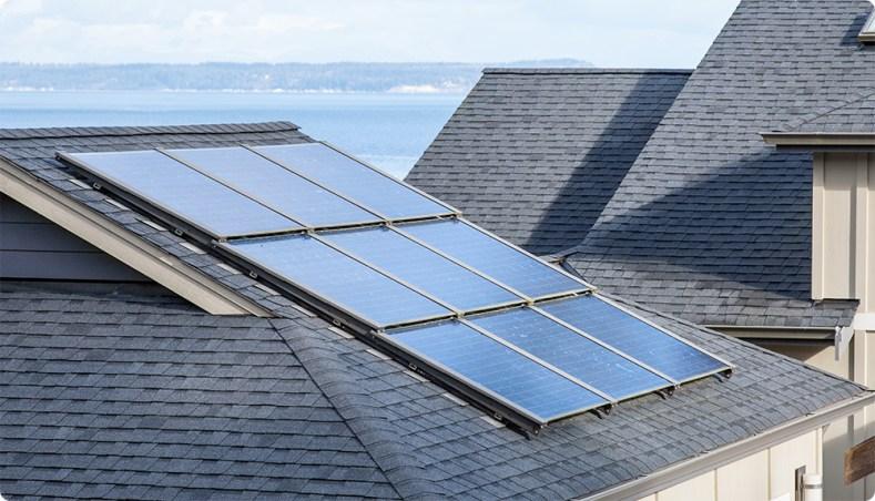 Roof-top solar array in Burlington, VT