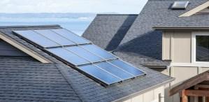 Rooftop solar panel array on home in Burlington, VT