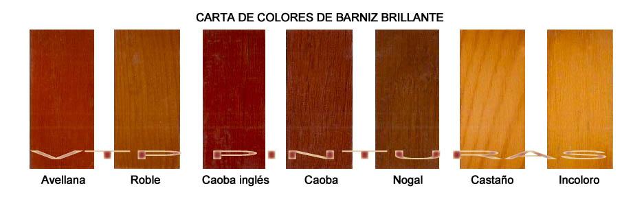BARNIZ PARA EXTERIORES CARTA DE COLORES