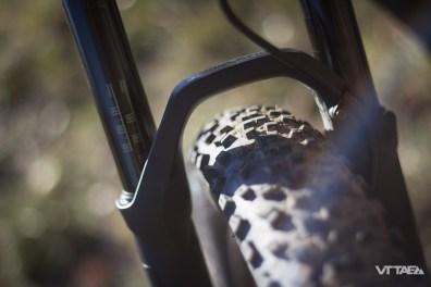 Pneus et roues comptent sur le principe 6Fattie, l'appellation Specialized pour ces pneus de 27,5 pouces Plus, de 3 pouces de section.