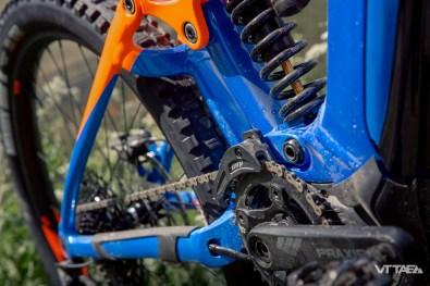 Que ce soit le système de suspension Maestro illustré ici, ou le système Flex présent sur le Giant Stance E+, les deux solutions ont déjà largement été mises à profit sur les générations de VTT traditionnels de la marque.