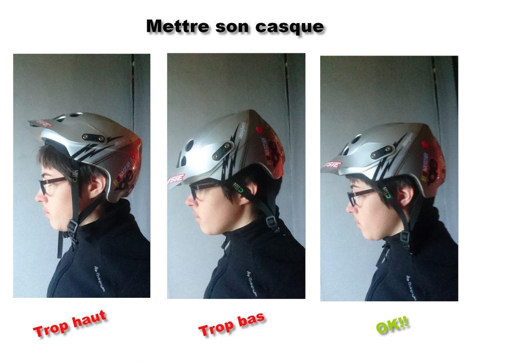 Bonne position du casque