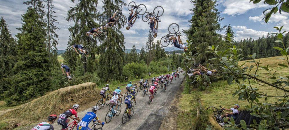 Szymon Godziek, BackFlip au dessus du tour du Pologne- VTT COACH