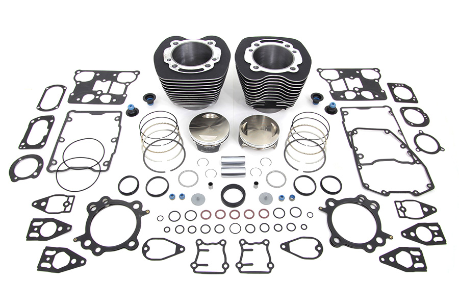 Vtwin Black 110 Motorcycle Cylinder Engine Kit for 07-17