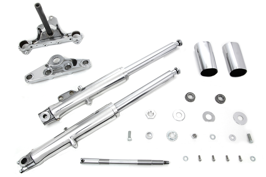 41mm Fork Assembly with Polished Sliders Single Disc for