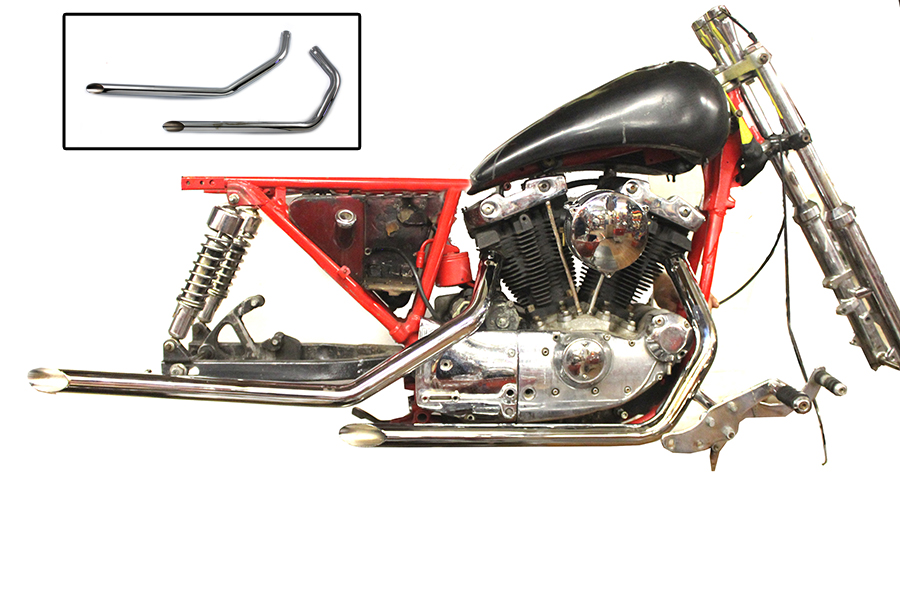 Amazing Chrome Radius Exhaust Pipes Right Side Drive Rsd