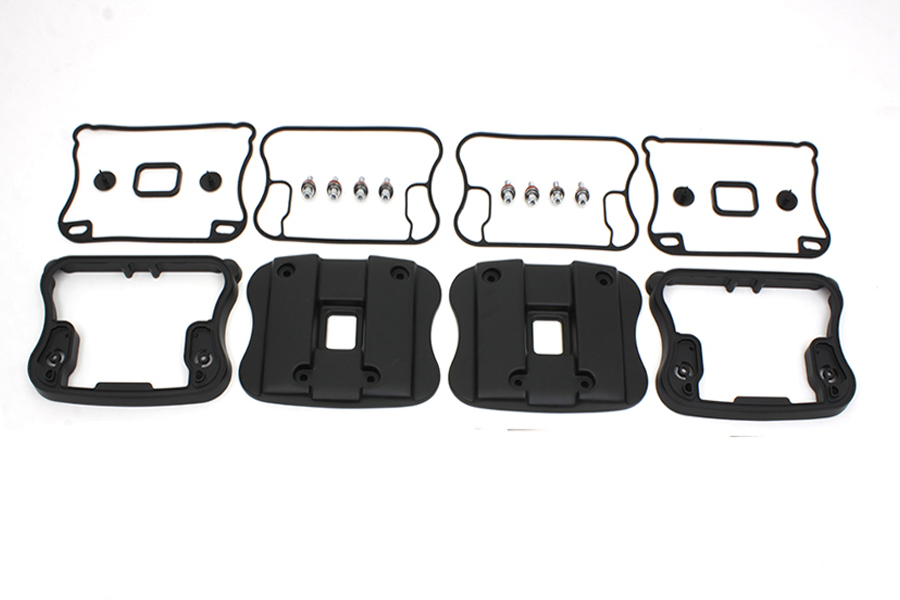Top Rocker Box Cover and D-Ring Kit Black,for Harley