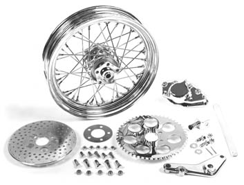 V-Twin Mfg 52-0600 16 x 3.00 Rear Wheel Kit with Caliper