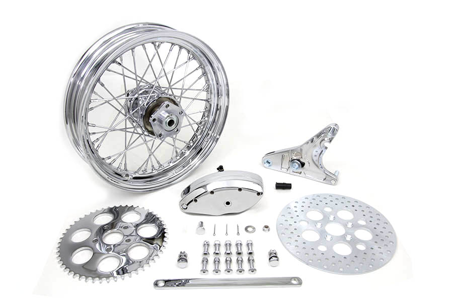 V-Twin Mfg 52-0601 16 x 3.00 Rear Wheel Kit with Caliper