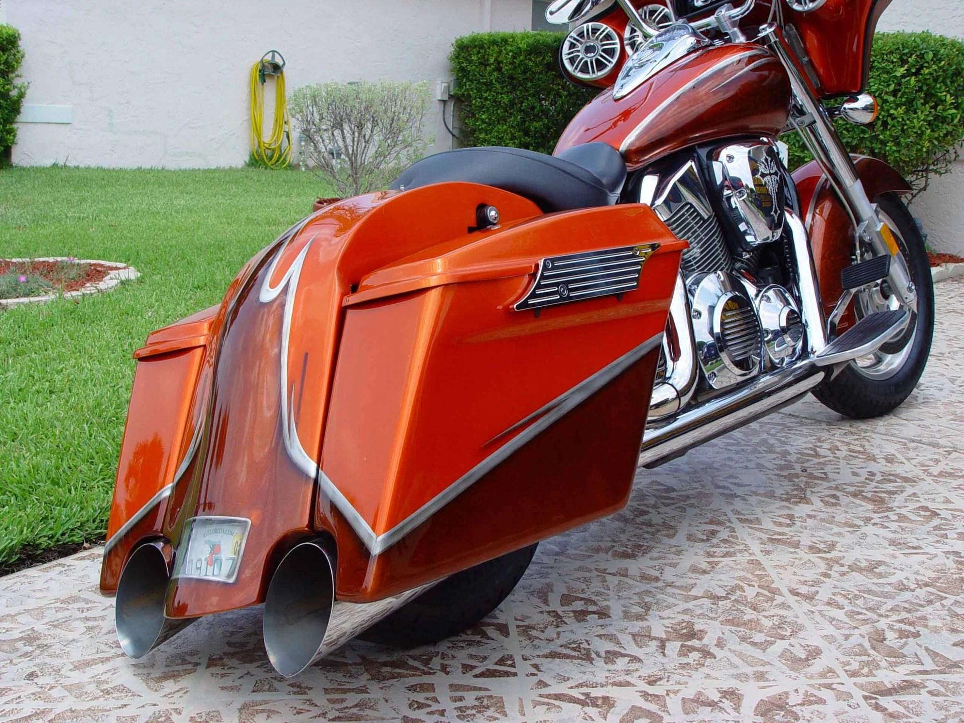 hight resolution of 2005 vtx custom bagger