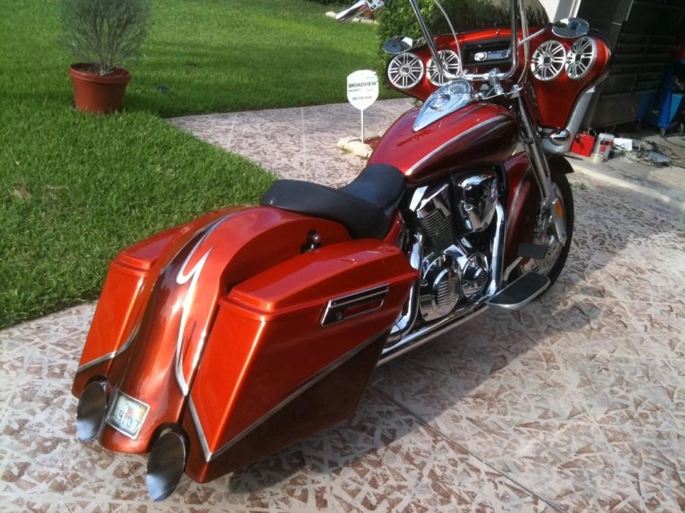 medium resolution of 2005 vtx custom bagger