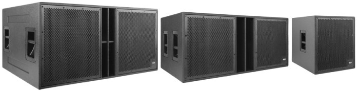 a-class subwoofer family as-418, as-215, as-115