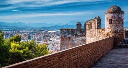 Vista desde el Castillo Gibralfaro. Imagen: ©depositphotos.com/amoklv