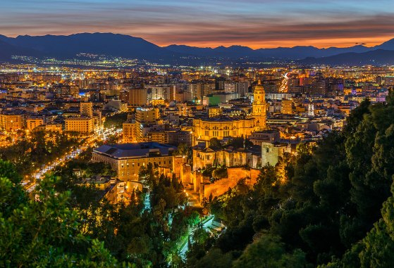 Vista desde el Castillo Gibralfaro. Imagen: ©depositphotos.com/fotomicar