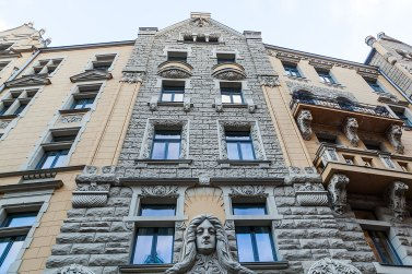 Ejemplo de arquitectura Art Nouveau en Riga Foto: copyright- depositphotos/Madrabothair