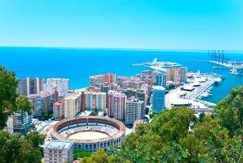 Vista desde el Castillo Gibralfaro. Imagen: ©depositphotos.com/maisicon