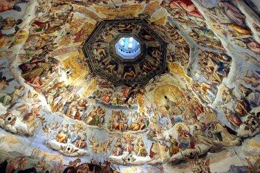 Catedral de Florencia, Juicio Final. La cupula fue construida por Brunelleschi. Frescos de Giorgio Vasari y Federico Zuccari.