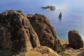 Mirador para hombres-pajaros. Isla de Pascua