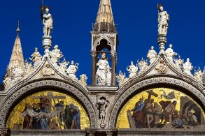 La fachada de la Basílica de San Marcos