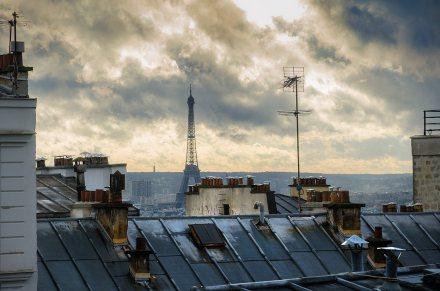 Vista de la Torre Eiffel desde Montmartre, París