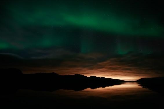 Aurora boreal en Kleifarvatn. Imagen: Sigurður Þ Sigurjónsson CC BY 2.0