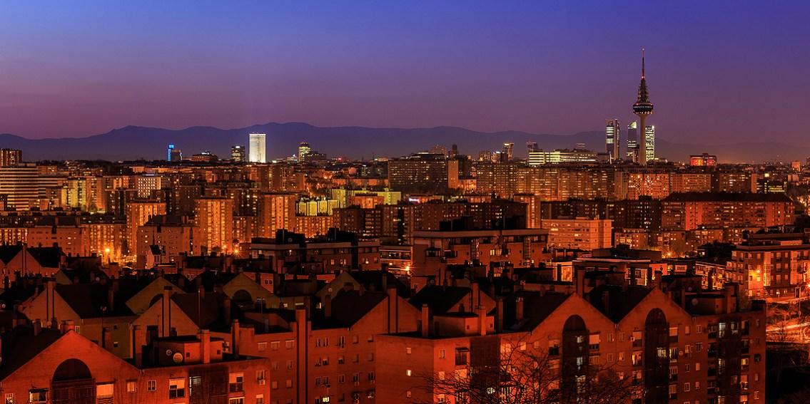 Torre España y el skyline de Madrid vistos desde el cerro del tío Pío. Imagen: