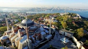 Vista aérea sobre la Mezquita Azul