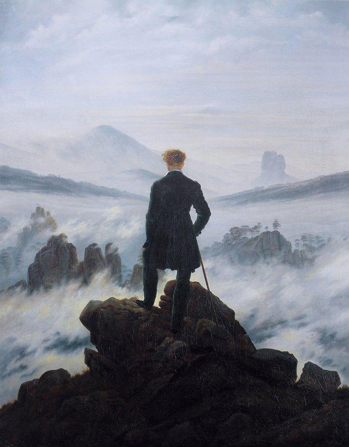 Imagen: Caspar David Friedrich - Wanderer above the sea of fog por Cybershot800i [Public domain], via Wikimedia Commons