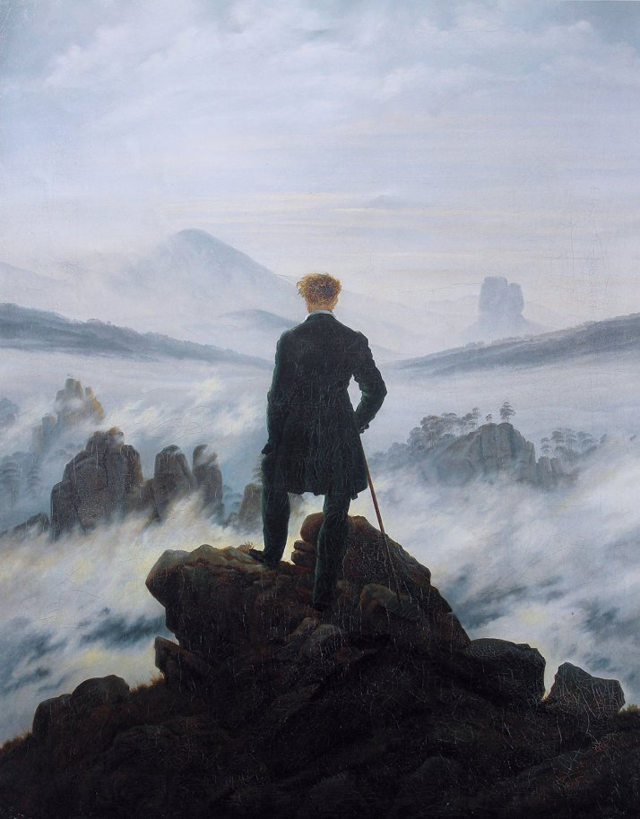 Imagen: Caspar David Friedrich - Wanderer above the sea of fog por Cybershot800i [Public domain], via Wikimedia Commons